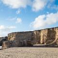 Cliffs at Bonny Doon Beach.- Bonny Doon Beach