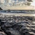 Bonny Doon Beach at low tide.- Bonny Doon Beach