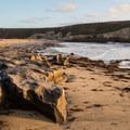 Rock formations at Bonny Doon Beach. - Bonny Doon Beach