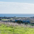 View of the Pacific Ocean from Prairie View Trail.- Moore Creek Preserve Hiking Trails
