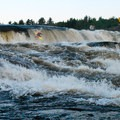 Agers Falls in the evening.- Bottom Moose River: Fowlersville to Shibley