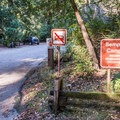 Entry to tent camping side of the road.- Sempervirens Campground