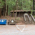 Restroom facilities at Wastahi Campground.- Wastahi Campground