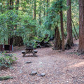 Tent camping at Huckleberry Campground.- Huckleberry Campground