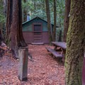 Cabin at Huckleberry Campground.- Huckleberry Campground