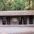 Restrooms at Huckleberry Campground.- Huckleberry Campground