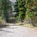 Corral at the equestrian site.- Timpooneke Campground