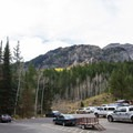 Parking and views.- Timpooneke Campground