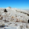 On the way up to Warner Peak, you make your own trail across the sagebrush hills.- Hart Mountain National Antelope Refuge