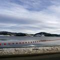 Traveling across the dam at Dillon Reservoir.- Dillon Reservoir