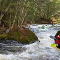 Beware the undercut boulder on the right in the run out of Moonshine.- Green River Kayaking: Garfield Road to Route 15