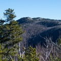 The first glimpse of Jay Mountain from a lesser summit.- Jay Mountain Hike