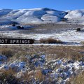 You know you've arrived when you see this sign.- Hart Mountain Hot Springs