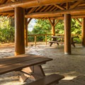 Lots of seating inside.- Porpoise Bay Provincial Park Campground