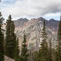 Broad's Fork Twin Peaks and Sunrise Peak.  - Maybird Lakes Hike