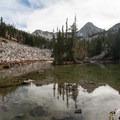 Pfeifferhorn from upper Maybird Lake.  - Maybird Lakes Hike