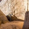Some of the side canyons in Lick Wash are narrow slots.- Lick Wash Hike