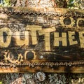 Trail sign at the lookout point on Out There.- North Whistler Mountain Bike Trails: Out There