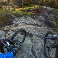 Looking down a dirty rock line.- North Whistler Mountain Bike Trails: Out There