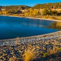 Fall on Wide Holllow Reservoir.- Escalante Petrified Forest State Park + Campground
