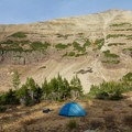 Campsite above Blue Lake.  - Naturalist Basin Hike