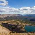 Naturalist Basin from the ridgeline above Blue Lake.- Naturalist Basin Hike