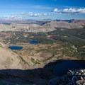Naturalist Basin from Mount Aggassiz summit.  - Naturalist Basin Hike