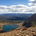 Blue Lake and Morat Lakes from the ridge leading to Mount Agassiz.  - Mount Agassiz Hike