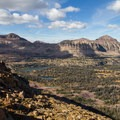 Middle Basin and Hayden Peak (12,479 feet, left of photo). - Mount Agassiz Hike