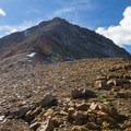 East ridge of Mount Agassiz about half way up.  - Mount Agassiz Hike