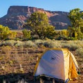Campsites at Indian Creek are numerous, gorgeous, and free.- Indian Creek Corridor