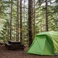 A campsite at Sloquet Hot Springs.- Sloquet Hot Springs