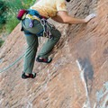 Bolted lines aren't hard to find and vary in difficulty.- Potash Road Rock Climbing