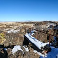 The trail crosses the complex terrain in Lava Beds National Monument.- Captain Jack's Stronghold