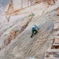 The slab section of Wall Street is good for beginners.- Potash Road Rock Climbing