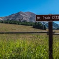 View of the La Sal's highest peak from Burlfriends Trailhead.- Burlfriends Trail Hike