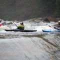 Paddlers in the upper half of the river's namesake Ledges Rapid.- New Haven Ledges