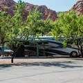 The campground has spots for large RVs.- Snow Canyon State Park