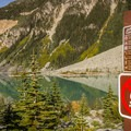 The campground at Upper Joffre Lake.- Joffre Lakes Hike