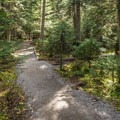 The trail to the first lake is crushed gravel. - Joffre Lakes Hike