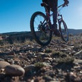 The polished stones are the remnants of an ancient river bed.- Kokopelli Loops Mountain Bike Trails: Rustler's Loop