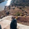 Great vistas open up by the river's edge.- Kokopelli Loops Mountain Bike Trails: Rustler's Loop