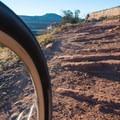 Lots of red rock to climb.- Kokopelli Loops Mountain Bike Trails: Rustler's Loop