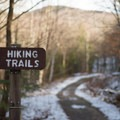 Signs mark the way for most of the hike.- Maple Ridge + Butler Lodge Loop