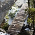 In some places the Long Trail is quite exposed and boardwalks bridge crevices.- Maple Ridge + Butler Lodge Loop