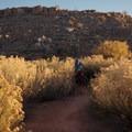 Riding Klondike Bluffs near Moab.- Klondike Bluffs Mountain Bike Trails: Jurassic to Dino Flow