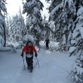Enjoying the early snow on Tumalo Mountain.- Tumalo Mountain Backcountry Skiing + Snowboarding