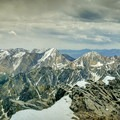 View from the summit of Borah Peak.- Borah Peak Climb