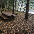 A campsite at Lizzie Bay.- Lillooet Lake Campgrounds