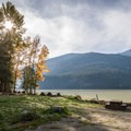 Twin One Campground features a boat launch.- Lillooet Lake Campgrounds